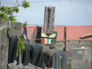 Самодельный почтовый ящик с флагом ЮАР...